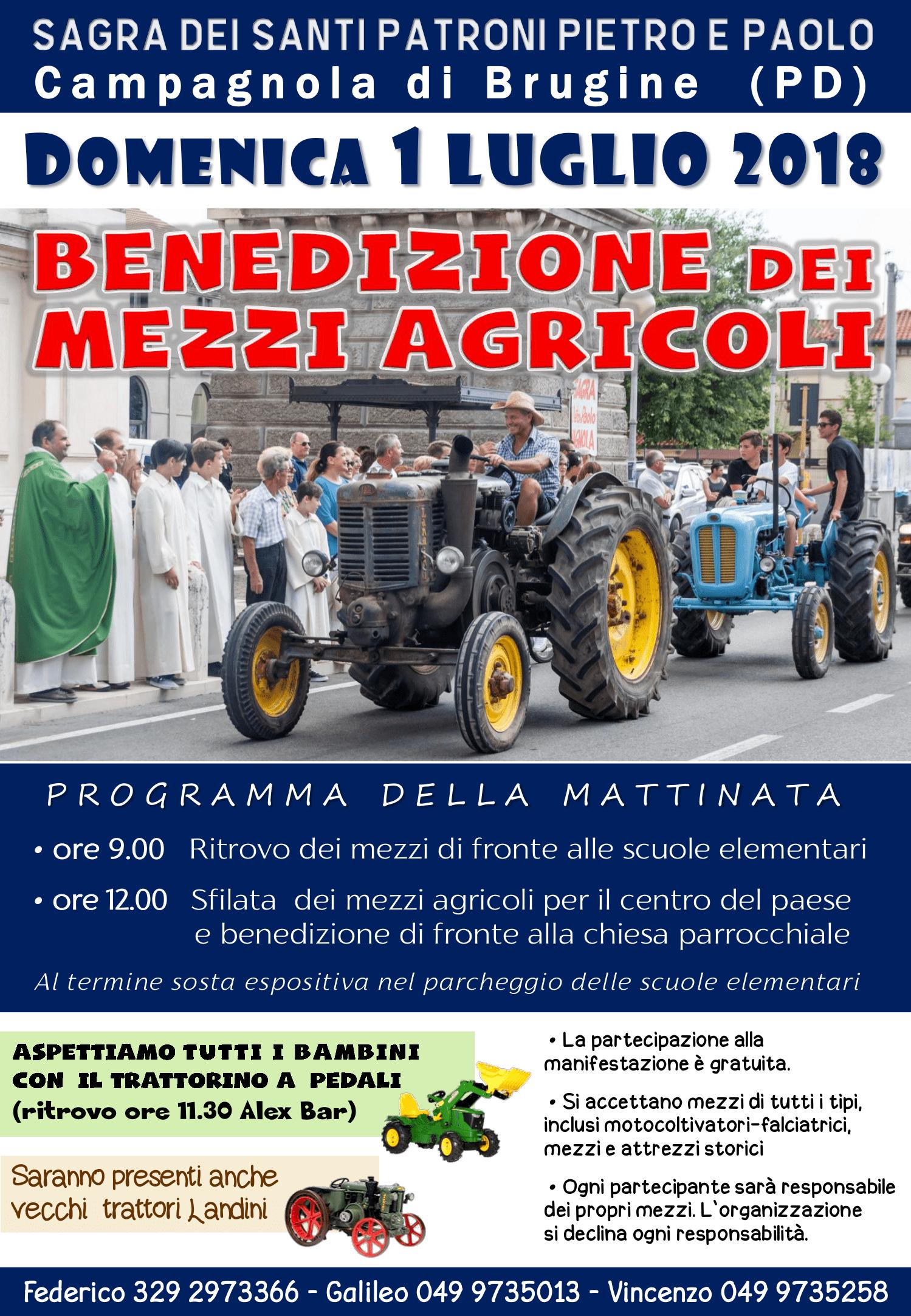 benedizione mezzi agricoli - sagra campagnola 2018
