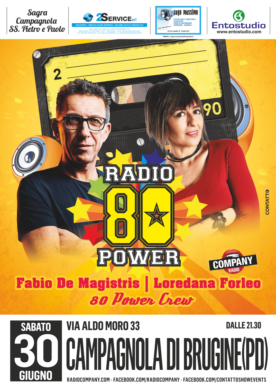 radio 80 power company 30 giugno - sagra campagnola 2018